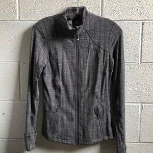 Lululemon grey pattern zip up jacket sz 6 59346